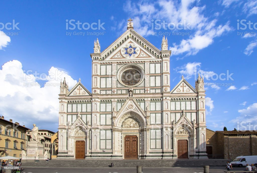 The Basilica di Santa Croce, Florence, Italy stock photo