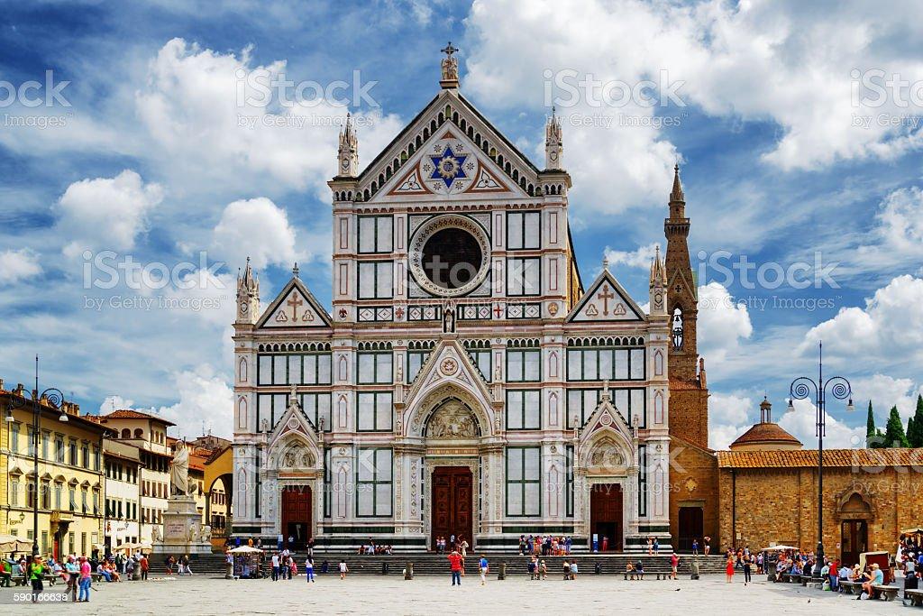 The Basilica di Santa Croce, Florence stock photo