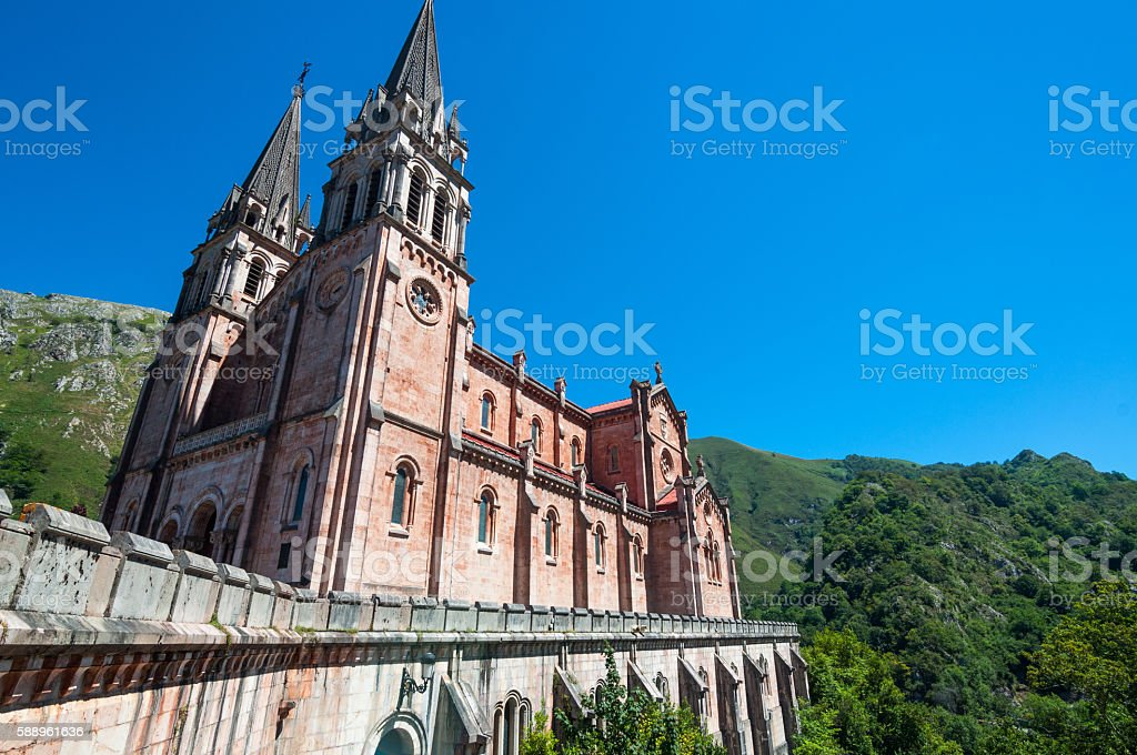 The Basilica of Covadonga stock photo