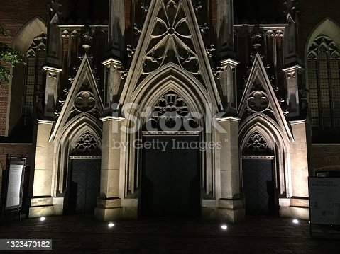 istock The Basilica of Holy Trinity in Kraków, Poland, is a gothic church and monastery of the Dominican Order. Its history dates from the year 1223. Saint Hyacinth is buried in the church. 1323470182