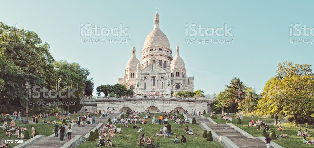 The Basilica of Sacré-Cœur, Paris stock photo