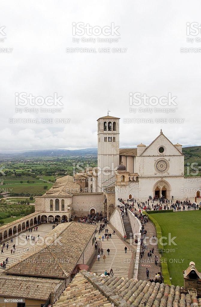 The Basilica of San Francesco d'Assisi, Assisi, Italy - foto stock