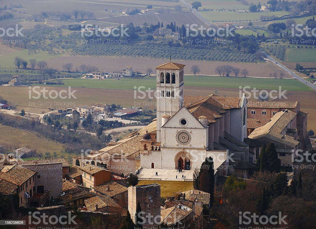 La Basilica di San Francesco d'Assisi, in Italia - foto stock