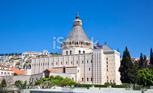 istock The Basilica of the Annunciation in Nazareth, Israel 177334961