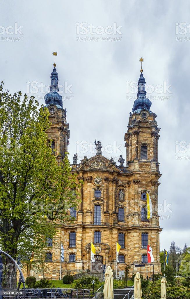 The Basilica of the Fourteen Holy Helpers, Germany. stock photo