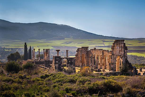 The Basilica of Volubilis stock photo