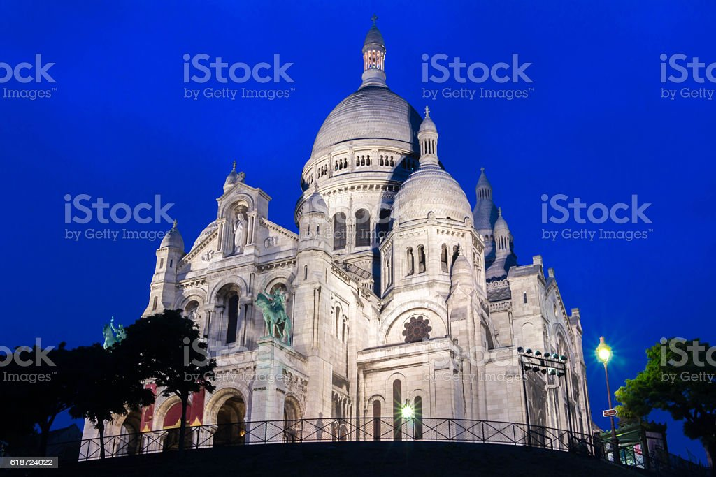 The basilica Sacre Coeur, Paris, France. stock photo