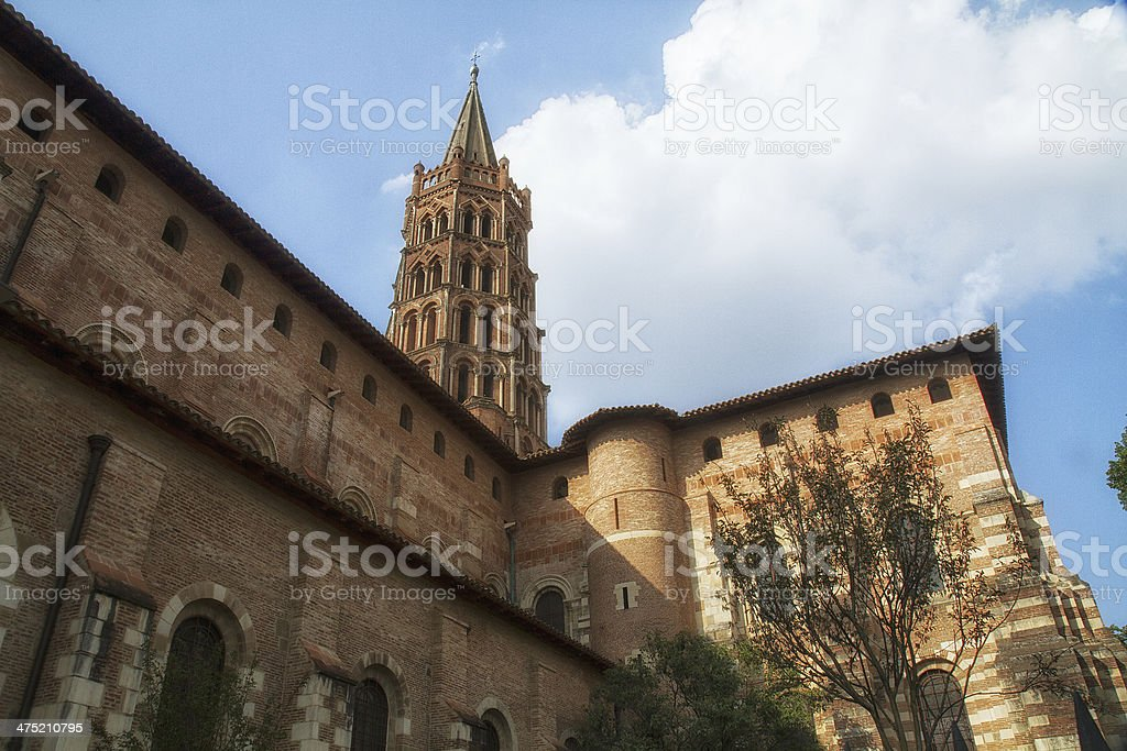 The basilica Saint-Sernin - Royalty-free Basilica Stock Photo