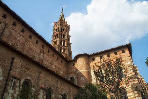 The basilica Saint-Sernin stock photo