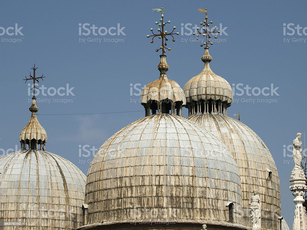 the Basilica San Marco in Venice royalty-free stock photo