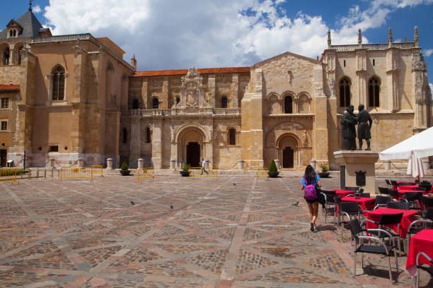 The Basílica de San Isidoro de Leon stock photo