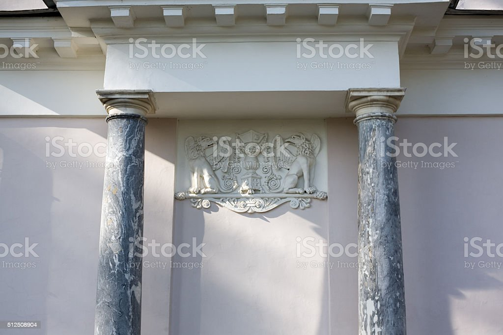 The bas-relief stock photo