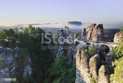 istock The Bastei - Landmark in the Saxon Switzerland 119386170