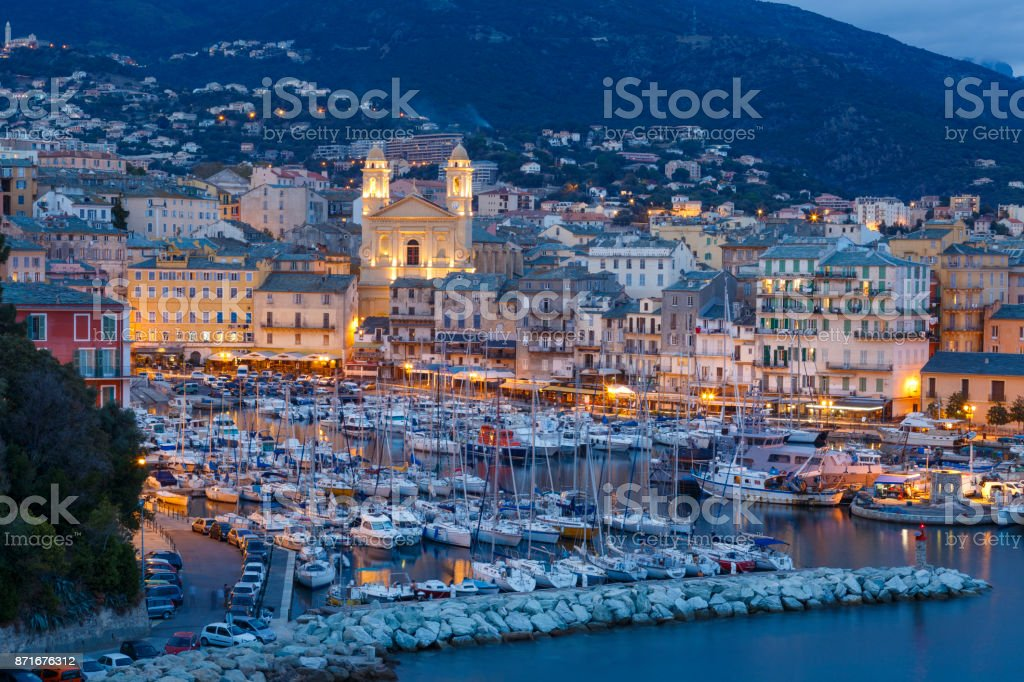 The Bastia City on The Corsica Island in France stock photo