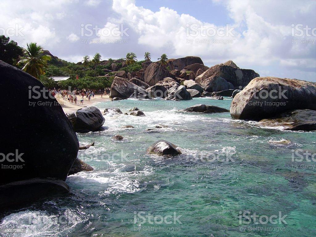 The Baths at Virgin Gorda, British Virgin Islands stock photo