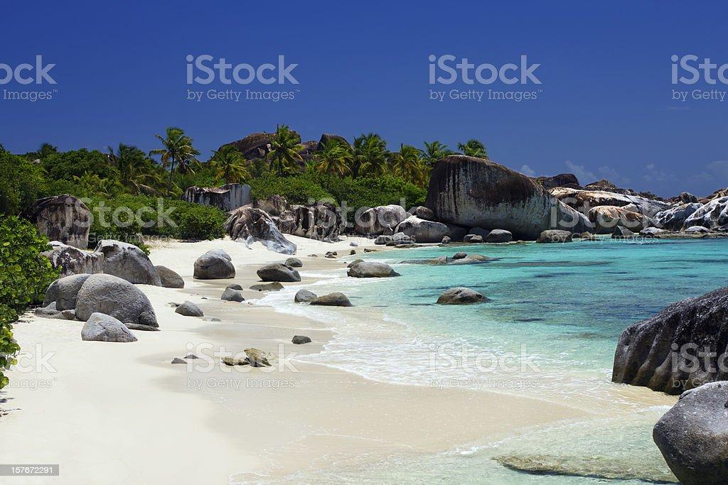 The Baths - beautiful beach in Virgin Gorda, BVI stock photo