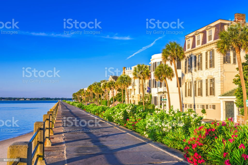 The Battery Charleston South Carolina stock photo