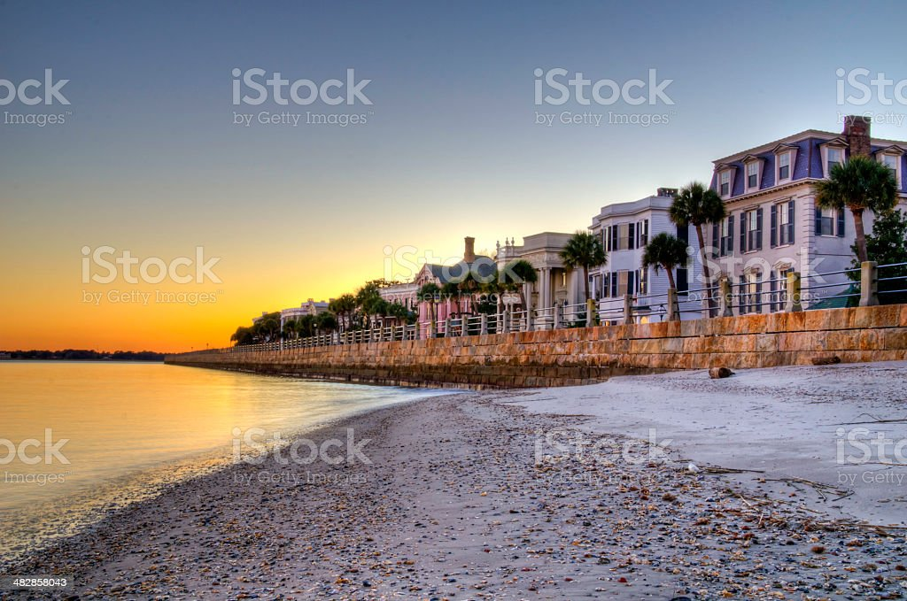 The Battery in Charleston stock photo