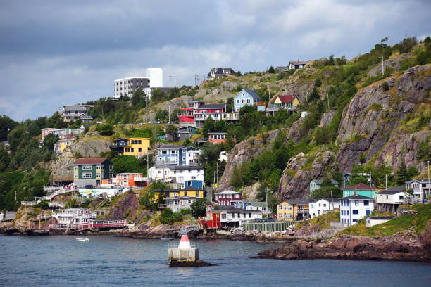 The Battery neighborhood in St. John's, Newfoundland, Canada - foto stock