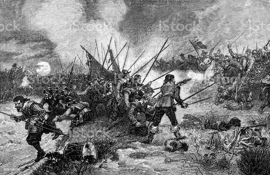 The Battle of Marston Moor - English Civil War stock photo
