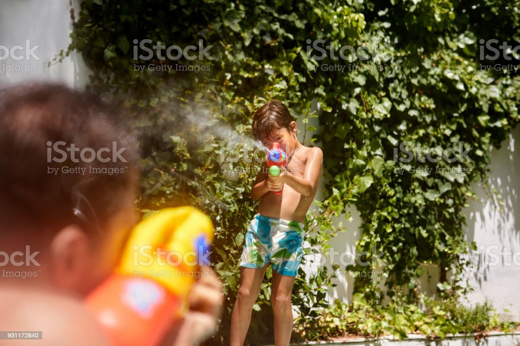 The battle of the times, father verses son stock photo