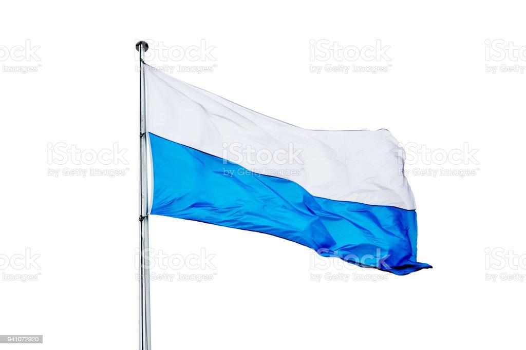 die bayerische Flagge auf weißem Hintergrund – Foto
