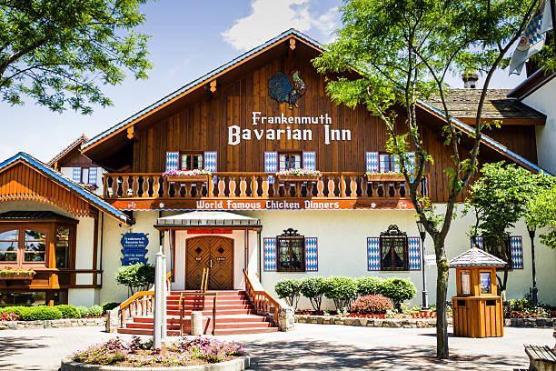 The Bavarian Inn Restaurant in Frankenmuth MI Frankenmuth, MI, USA - June 6, 2007: The Bavarian Inn Restaurant in Frankenmuth MI inn stock pictures, royalty-free photos & images