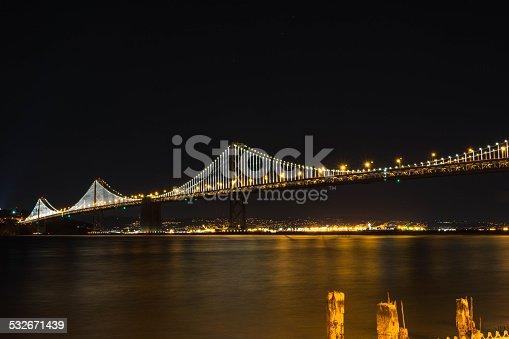 A night view of the Bay Bridge