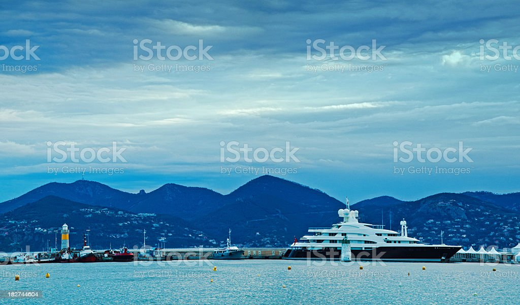 the bay of cannes stock photo