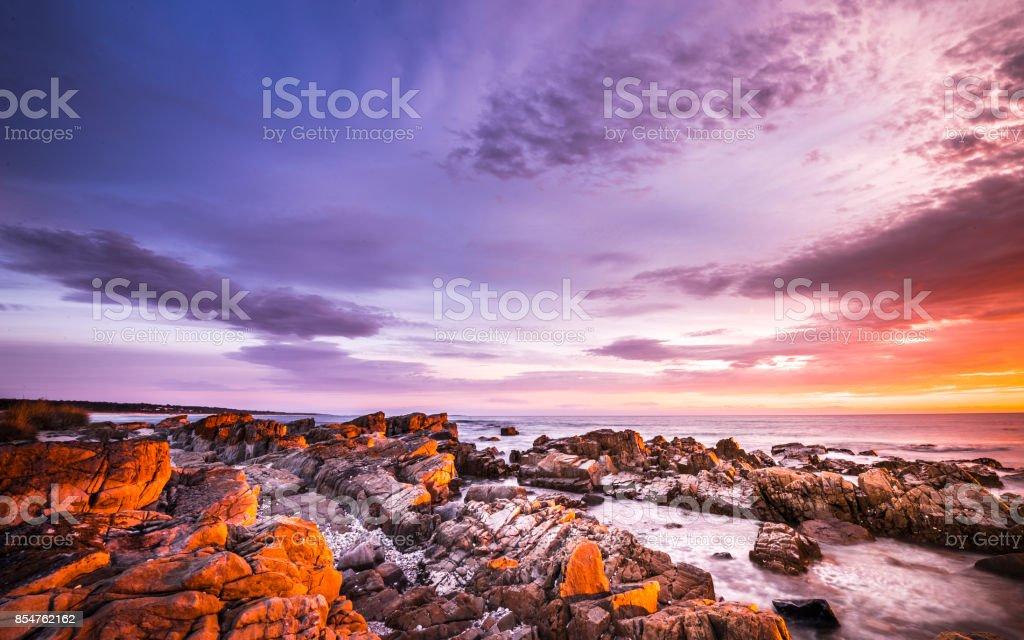 The Bay of Fire, Tasmania stock photo