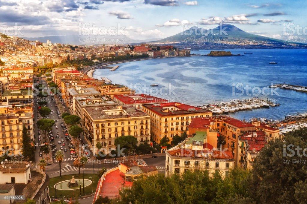 The bay of Naples stock photo