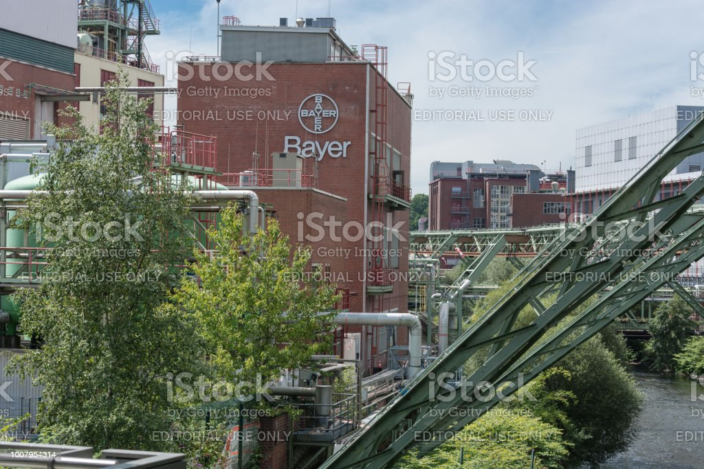 The Bayer AG plants located in Wuppertal Elberfeld stock photo