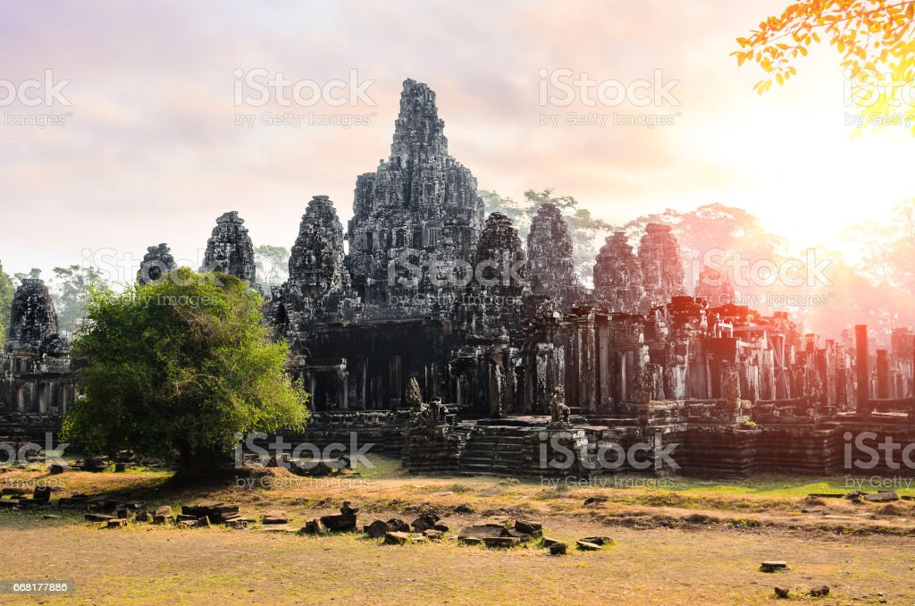 The Bayon temple stock photo