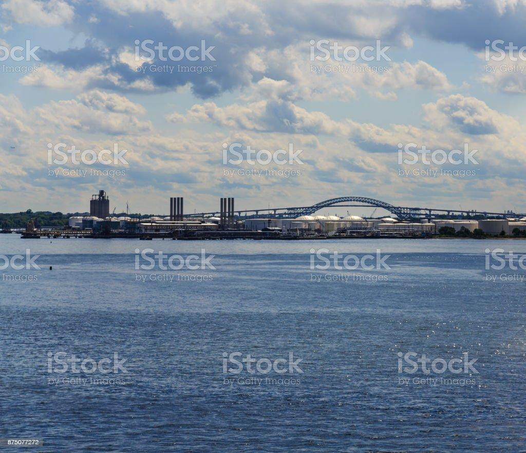 The Bayonne Bridge stock photo