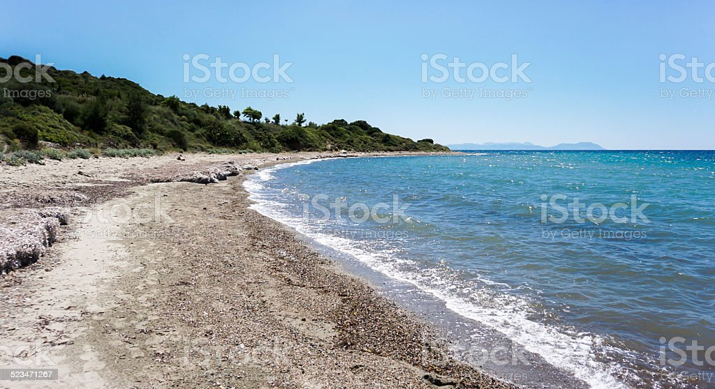 The Beach at Anzac Cove stock photo