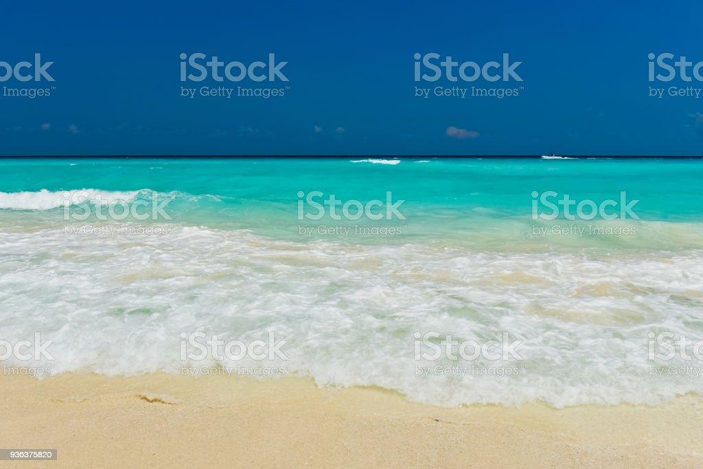 カンクンのビーチ ストックフォト