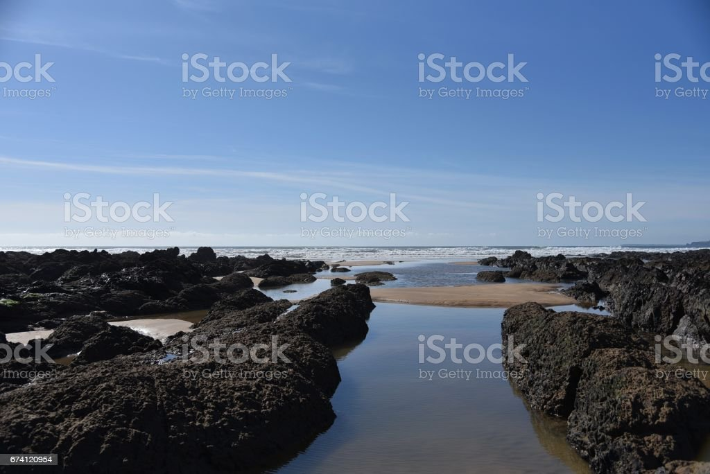 The Beach at Freshwater West, South Pembrokeshire, Wales, UK royalty-free stock photo