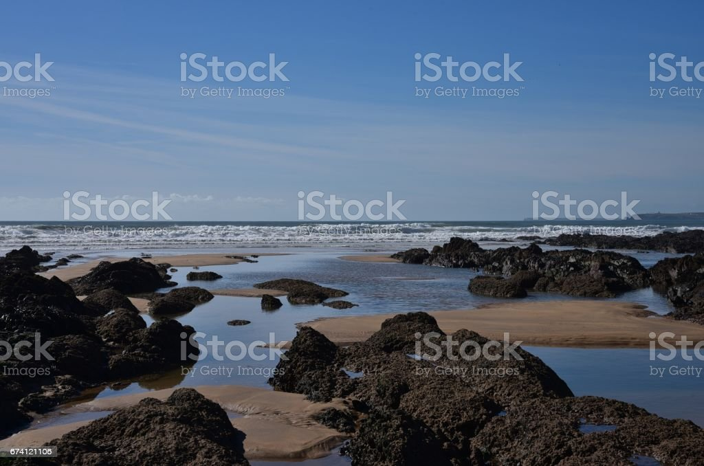 The Beach at Freshwater West, South Pembrokeshire, Wales, UK 免版稅 stock photo