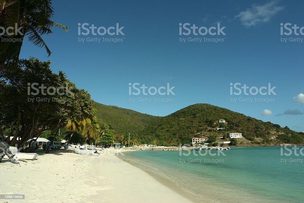 Strand an der Great Harbour - Lizenzfrei Anhöhe Stock-Foto
