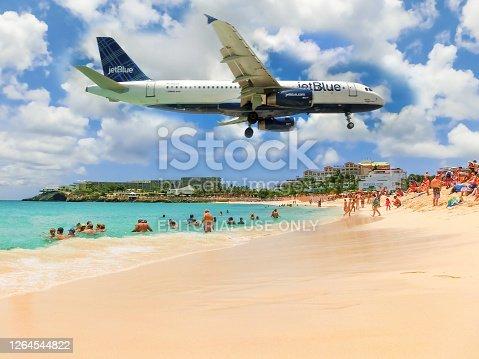 istock The beach at Maho Bay 1264544822