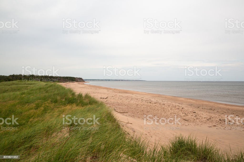 The beach at Robinsons Island on PEI stock photo