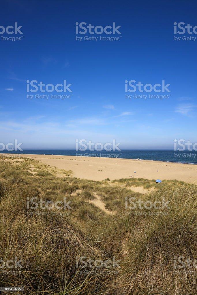 The beach at Winterton on Sea royalty-free stock photo