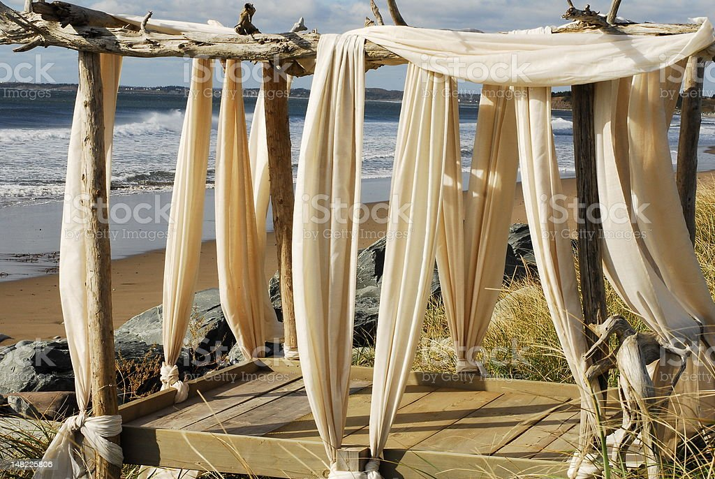 The Beach Curtains royalty-free stock photo