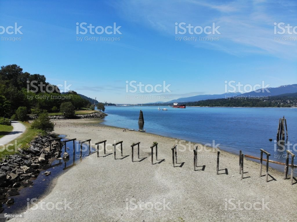 The Beach From The Sky royalty-free stock photo