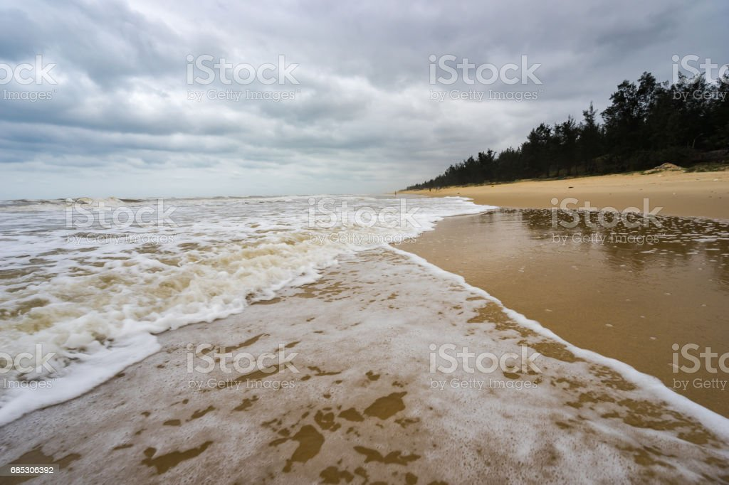 The beach in in a cloudy day, Vietnam, Stock image foto de stock royalty-free
