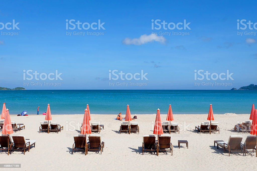 The beach in Thailand stock photo