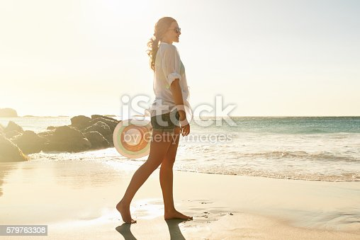 578302556 istock photo The beach is a great destination for a solo traveller 579763308