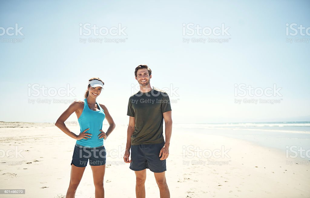 The beach is our gym foto stock royalty-free