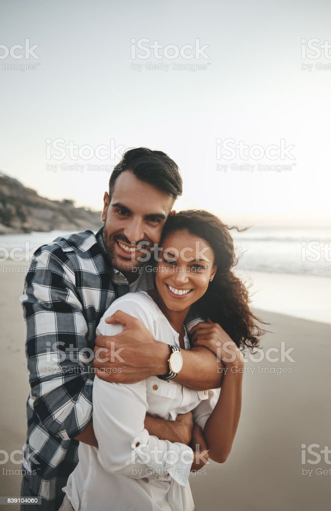 The beach is the perfect place to fall in love stock photo
