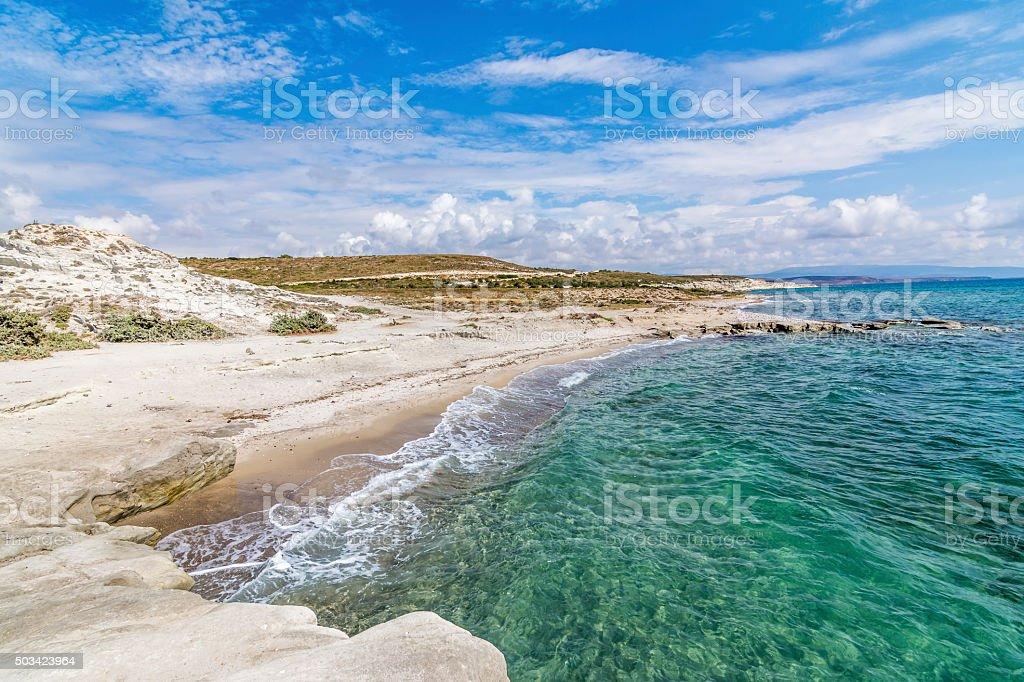 The Beach of Alacati, Izmir stock photo